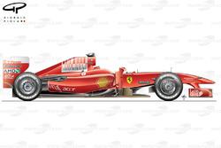 Ferrari F60 side view