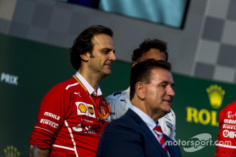 Podium: Luigi Fraboni, Motorenchef, Ferrari; Alan Jones