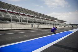 Preparaciones del autódromo Hermanos Rodríguez para el GP de México
