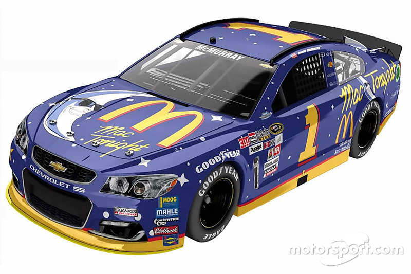 Throwback-Design von Jamie McMurray, Chip Ganassi Racing, Chevrolet