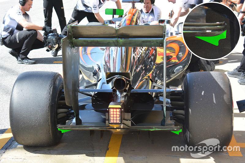 Detail Heckflügel, McLaren MP4-31
