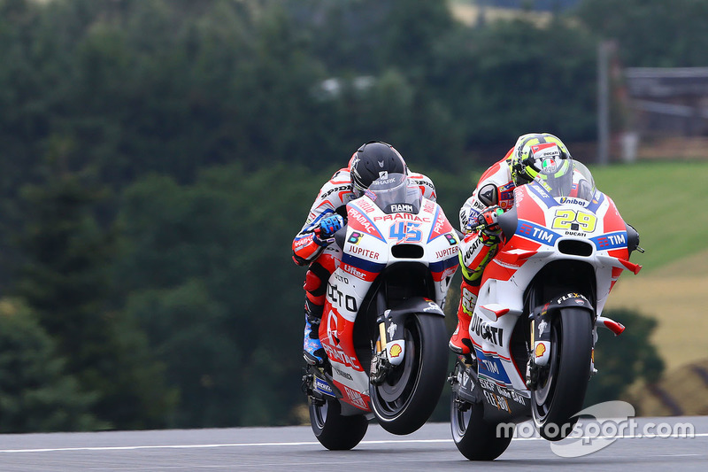 Andrea Iannone, Ducati Team and Scott Redding, Pramac Racing