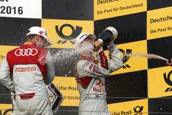 Podium: Adrien Tambay, Audi Sport Team Rosberg, Audi RS 5 DTM and Mattias Ekström, Audi Sport Team Abt Sportsline, Audi A5 DTM