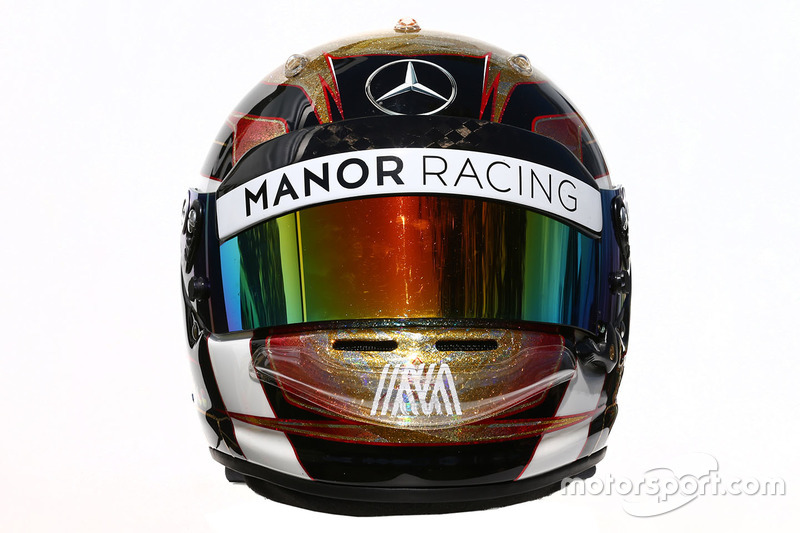 Il casco di Pascal Wehrlein, Manor Racing
