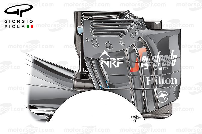 Торцева пластина заднього антикрила McLaren MP4/31, ГП Австрії