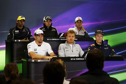 Press conference: Felipe Nasr, Sauber, Sergio Perez, Sahara Force India F1, Esteban Gutierrez, Haas