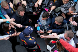 Max Verstappen, Red Bull Racing with the media