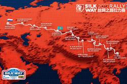 Die Route der Silk-Way-Rallye 2017