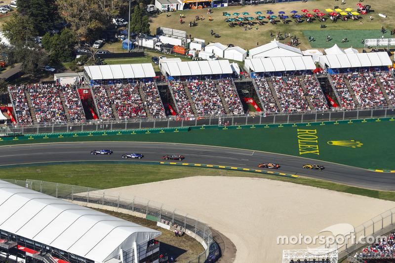 Marcus Ericsson, Sauber, C36; Antonio Giovinazzi, Sauber, C36; Kevin Magnussen, Haas F1 Team, VF-17; Stoffel Vandoorne, McLaren, MCL32; Jolyon Palmer, Renault Sport F1 Team, RS17