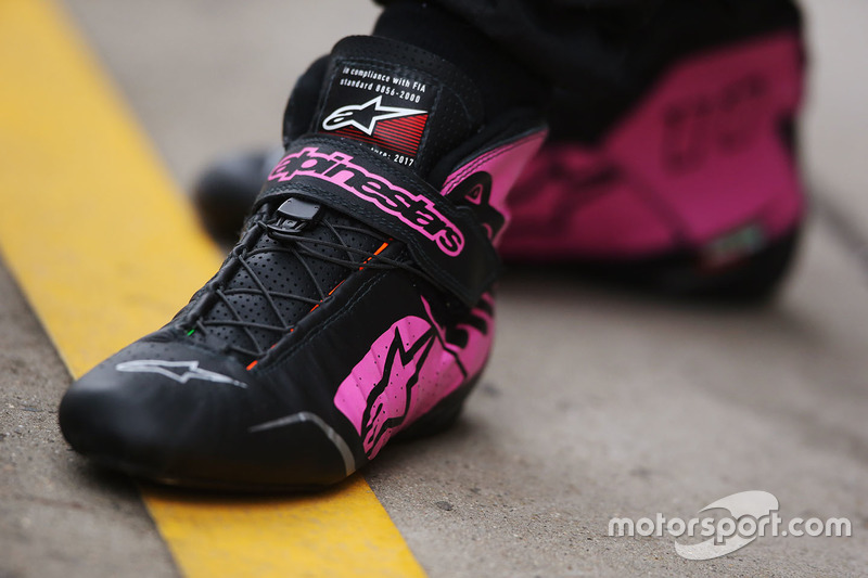The boots of Sergio Perez, Force India