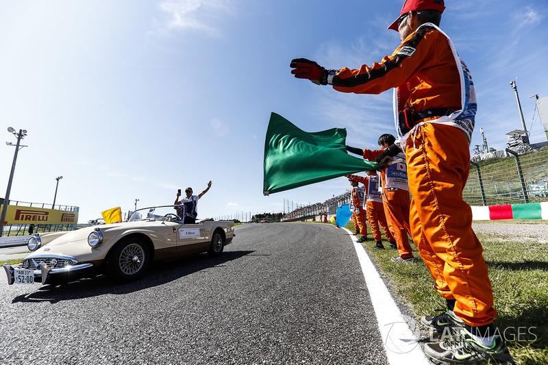 Felipe Massa, Williams, no desfile dos pilotos