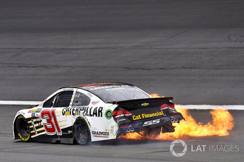 7. Ryan Newman, Richard Childress Racing Chevrolet crash