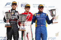 Podium: 1. Charles Leclerc, PREMA Racing; 2. Luca Ghiotto, RUSSIAN TIME; 3. Oliver Rowland, DAMS