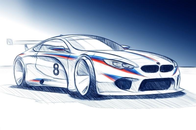 Rendu de la BMW M8 GTE