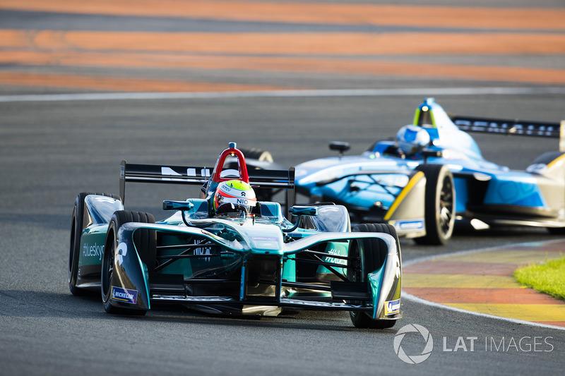 Oliver Turvey, NIO Formula E Team y Nicolas Prost, Renault e.Dams