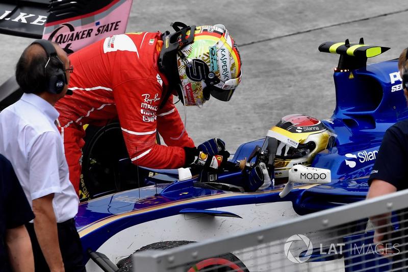 Sepang 2017: Pascal Wehrlein (Sauber) - Sebastian Vettel (Ferrari)