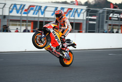 Marc Marquez riding his RC213V