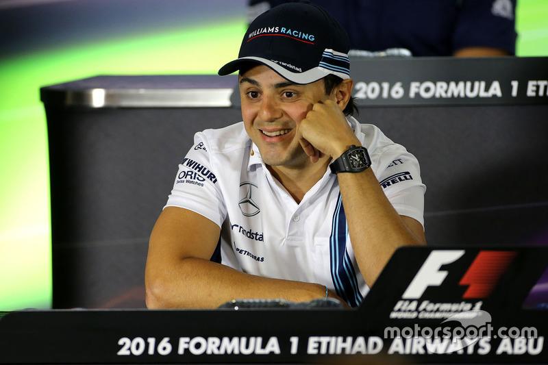 Felipe Massa, Williams during the press conference