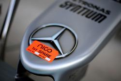 Nico rosberg, Mercedes AMG F1 W07 Hybrid car nose detail