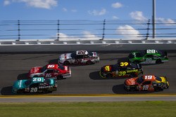 Erik Jones, Joe Gibbs Racing, Toyota; Ryan Reed, Roush Fenway Racing, Ford; Brad Keselowski, Team Penske, Ford