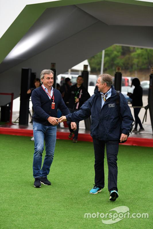 Franz Tost, Scuderia Toro Rosso Team Principal and Carlos Sainz