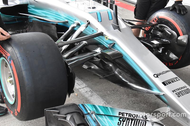 Передня частина Mercedes AMG F1 F1 W08