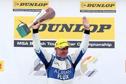 Podium: race winner Jason Plato, Team BMR Subaru Levorg