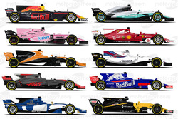 Машины Ф1 сезона-2017