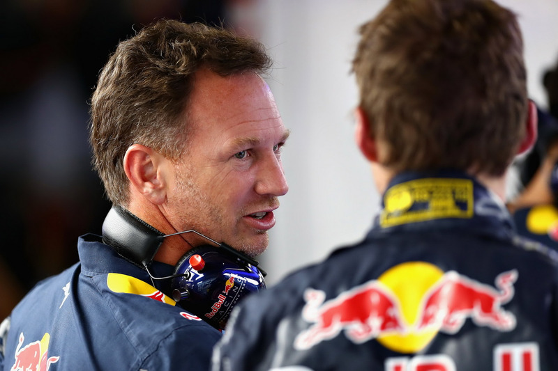 Max Verstappen, Red Bull Racing; Christian Horner, Red Bull Racing, Teamchef