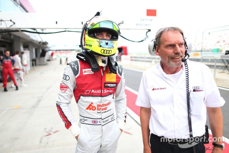 Jamie Green, Audi Sport Team Rosberg, Audi RS 5 DTM; Erich Baumgärtner, Renningenieur