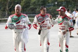 Rob Huff, Honda Racing Team JAS, Honda Civic WTCC, Norbert Michelisz, Honda Racing Team JAS, Honda Civic WTCC, Tiago Monteiro, Honda Racing Team JAS, Honda Civic WTCC