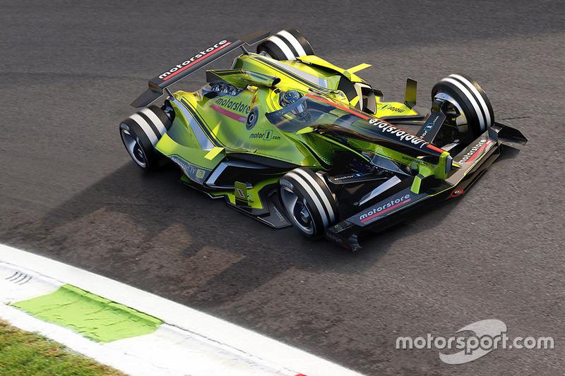 Diseño del futuro Fantasy F1 para 2030