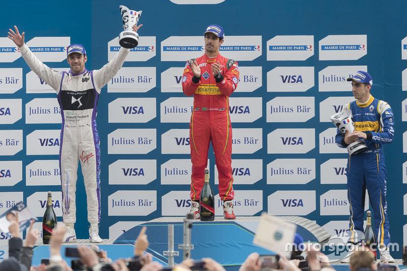 Podium: second place Jean-Eric Vergne, DS Virgin Racing