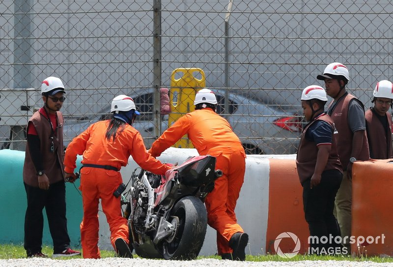 Danilo Petrucci, Ducati Team caída