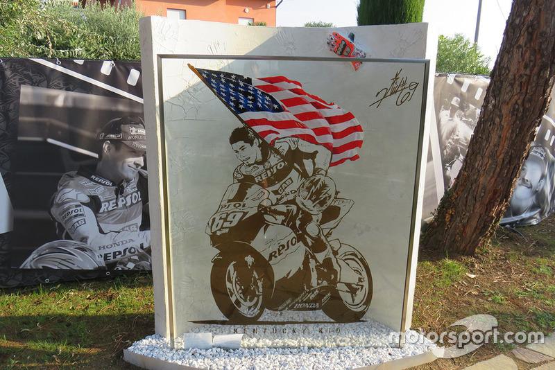 Jardín homenaje a Nicky Hayden en Misano