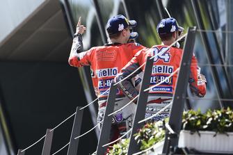 1. Jorge Lorenzo, Ducati Team, 3. Andrea Dovizioso, Ducati Team
