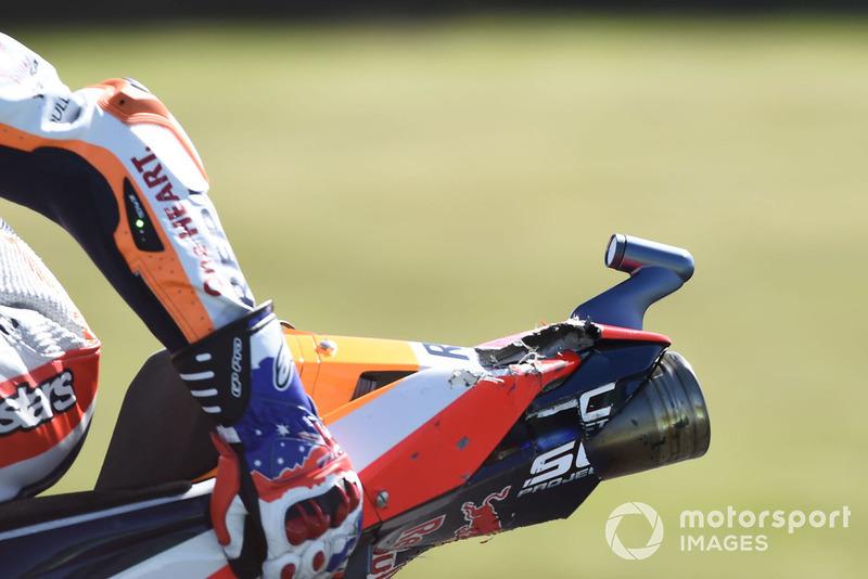 Пошкоджений мотоцикл Марка Маркеса, Repsol Honda Team