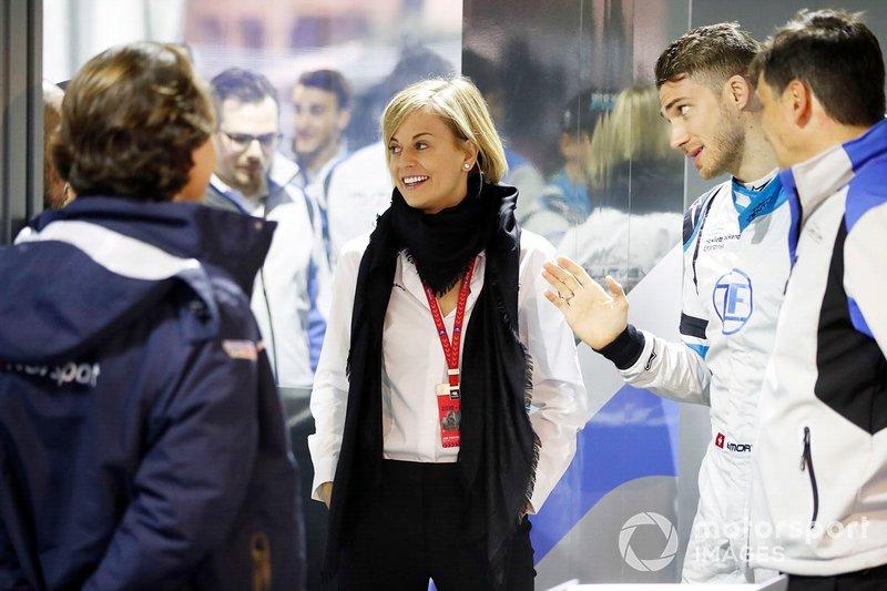 Susie Wolff, Team Principal, Venturi Formula E, Edoardo Mortara (CHE) Venturi Formula E, in the garage