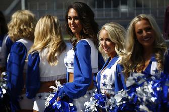 The Dallas Cowboys Cheerleaders on the grid