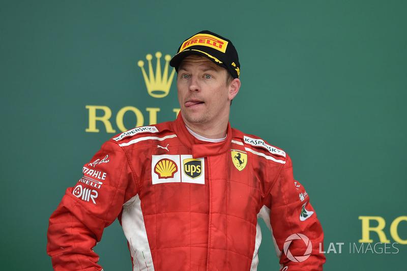 Кімі Райкконен, Ferrari, на подіумі