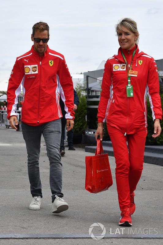 Sebastian Vettel, Ferrari with his PA Britta Roeske (AUT)