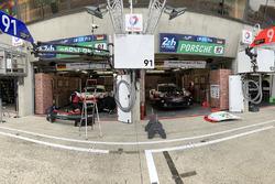 Le stand vintage de Porsche GT