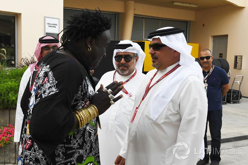 Crown Prince Shaikh Salman bin Hamad Al Khalifa, talks with Memo Rojas,  Moko, Chrome Hearts Jewellary