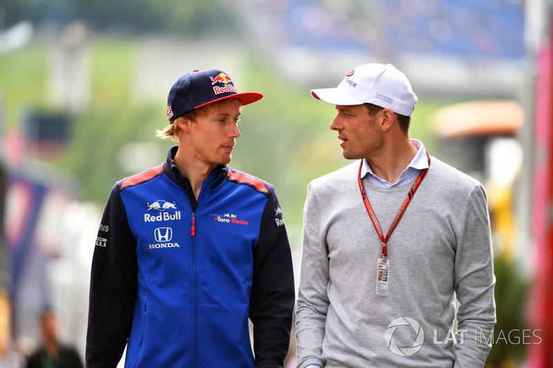Brendon Hartley, Scuderia Toro Rosso and Alexander Wurz, Williams Driver Coach