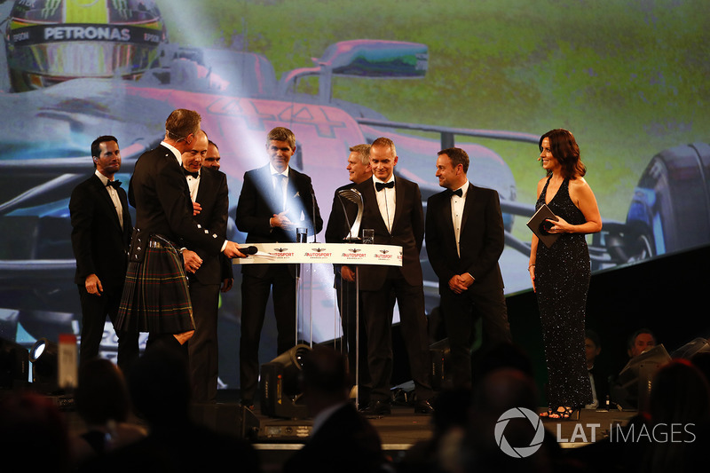 The Mercedes team receives the Racing Car of the Year Award