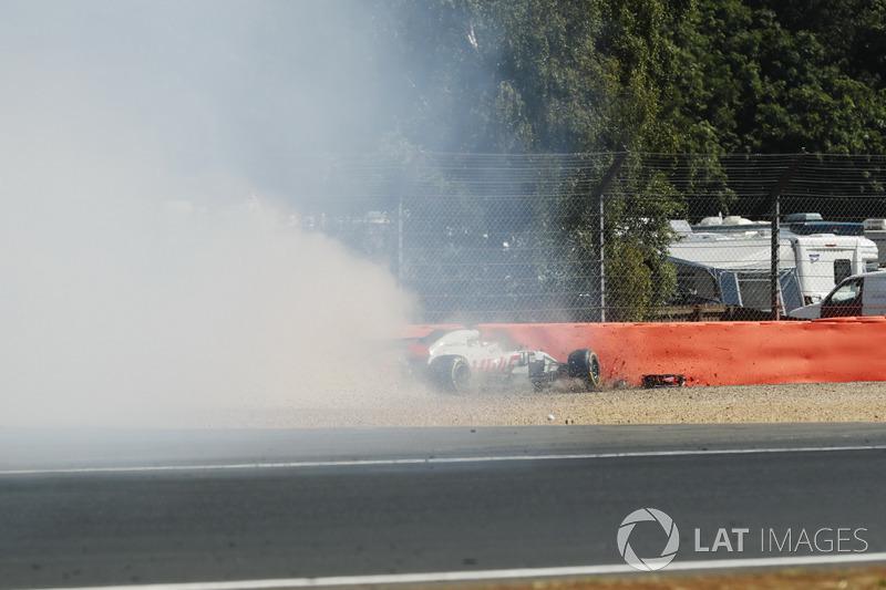 Kecelakaan Romain Grosjean, Haas F1 Team