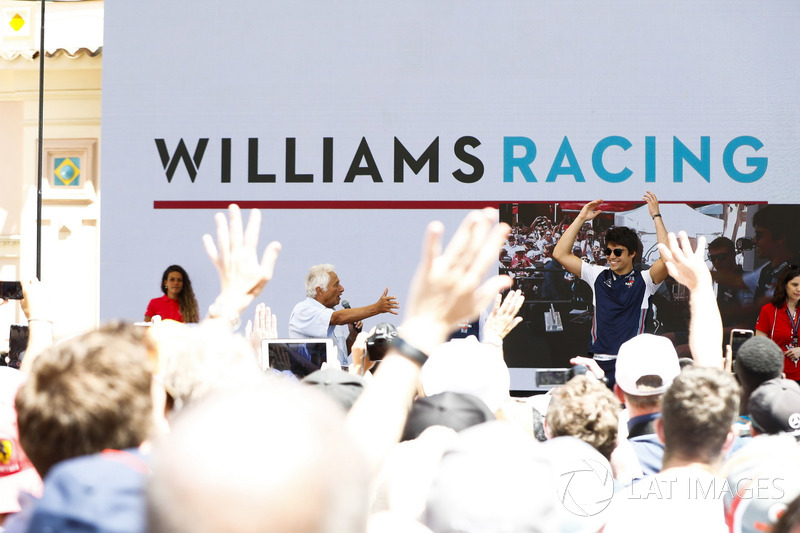 Bob Constanduros avec Lance Stroll, Williams Racing, sur scène