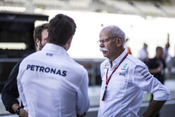 Dr. Dieter Zetsche, CEO of Daimler AG and Toto Wolff, Mercedes AMG F1 Director of Motorsport