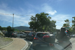 Traffic problems on the way to the Paul Ricard circuit
