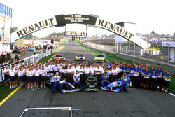 The works Renault engine teams Williams and Benetton